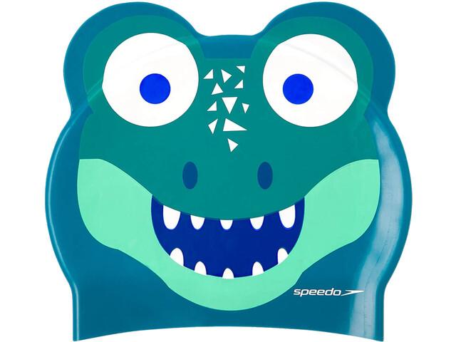 speedo Printed Character Gorra, Azul petróleo/verde